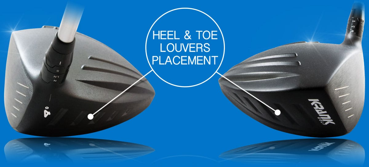 What makes Krank Golf Fly? Heel and Toe Louvers Placement